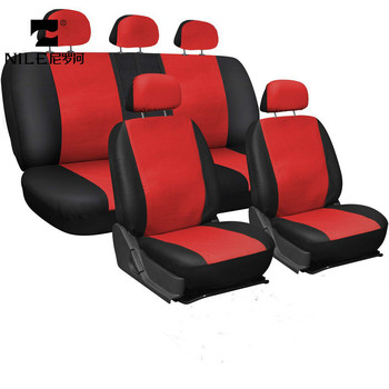 Nile 9PCS Universal High Quality PU Leather Car Seat Covers Multi Color Auto Full Seat Protector For Car Accessories