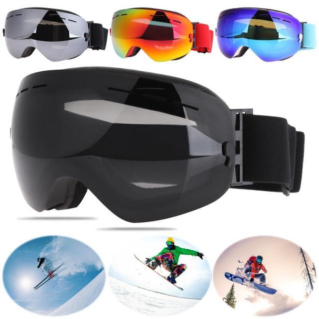 54246f5cef12 Professional Ski Goggles Gouble Layers UV400 Anti-fog Big Ski Mask Glasses  Skiing Men Women Snow Snowboard Goggles 4 Colors