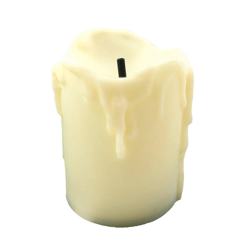 12 шт., 3 цвета, беспламенный светодиодный подсвечник, свечи для праздников, свадеб, вечеринок, дней матери, декоративные свечи на батарейках, photophore DIY - Цвет: yellow  12pcs