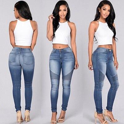 Sexy Mujeres El Denim Cintura Estrechos Delgado Llega Alta Vaqueros Nuevo Otoño Estiramiento Pantalones 2016 Lápiz qnBIxw