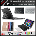 Портативный Bluetooth-клавиатура Чехол Для Sumsung Галактики S2 8.0 T710 8.0 дюймов Tablet PC, бесплатный резные Язык Бесплатная доставка