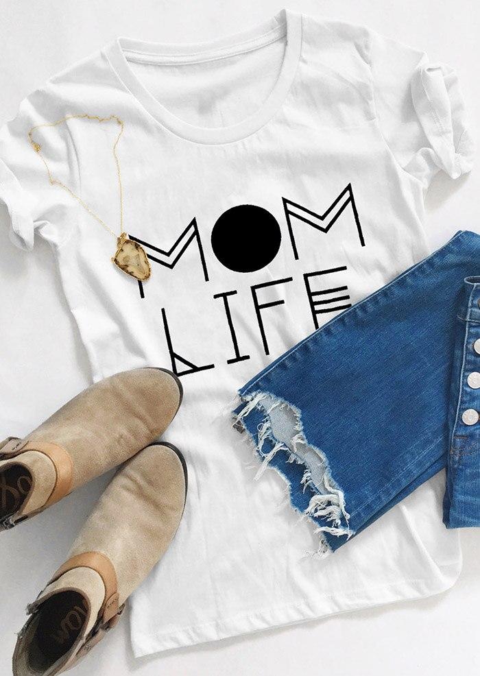 MamasauruMom жизни футболка с круглым вырезом красивый подарок на день матери летние футболки модные женские рубашки Графический Цитата camiseta tumblr...