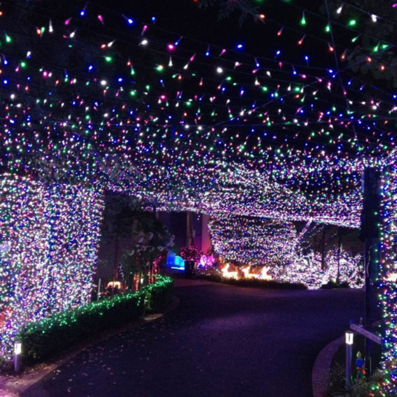 12M 100 LED Outdoor Colorful Solar Lamp LED String Lights Fairy Holiday  Christmas Party Garlands Solar Garden Waterproof Lights