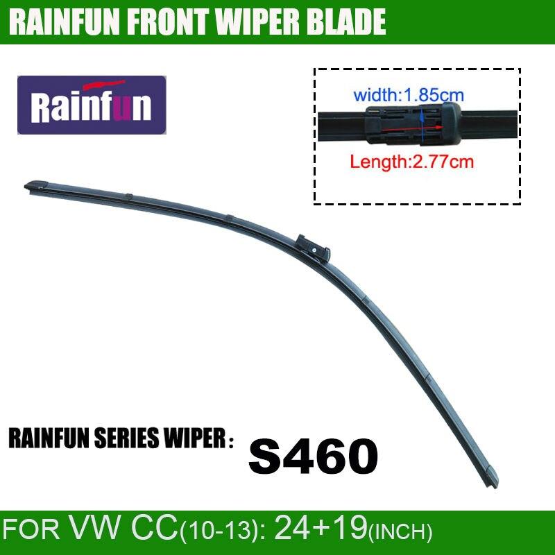RAINFUN специальный автомобиль стеклоочистителя для VOLKSWAGEN PASSAT CC(-11), 24+ 19 дюймов, высокое качество авто стеклоочистителя ветрового стекла