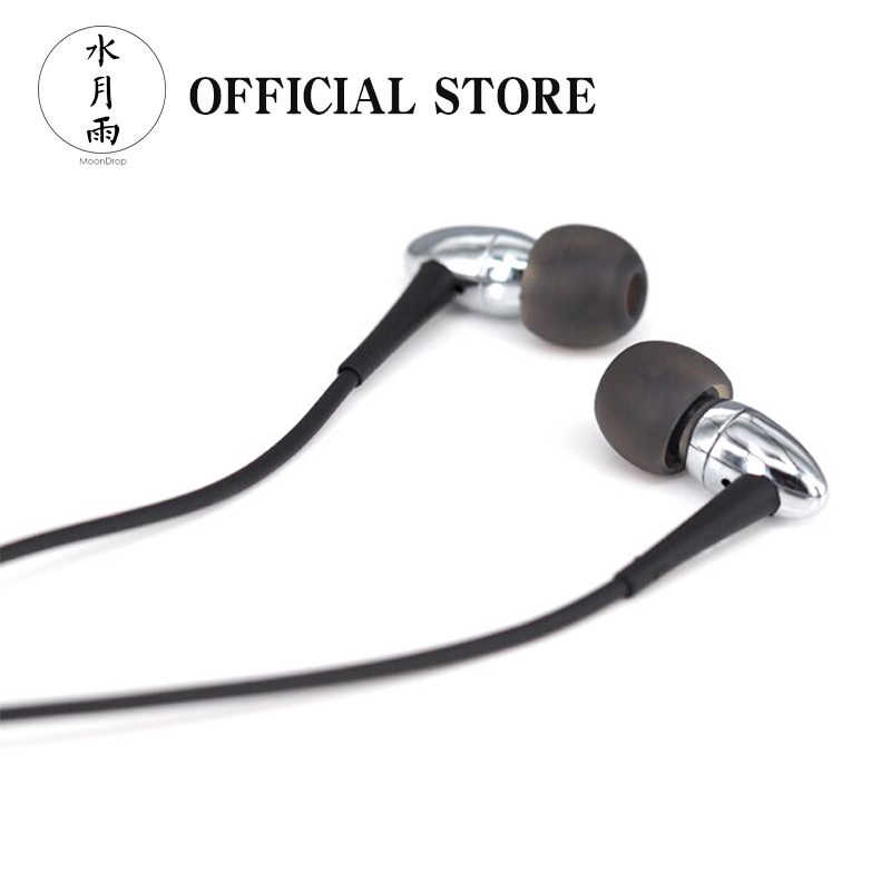Moondrop SPACESHIP Dynamic Earphone Chrome-Plated Brass External Magnetic Circuit Multi-Stiffness Diaphragm In-Ear Earphones