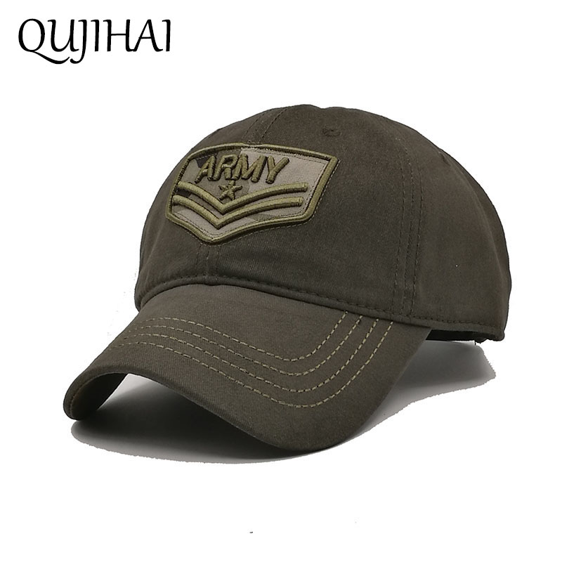 QUJIHAI US Army Star Baseball Cap The US Air Force Chapter Cap Snapback Men Fitted Hat Cotton Bone Gorra Casquette fashion rivets cotton polyester fiber men s flat top hat cap army green