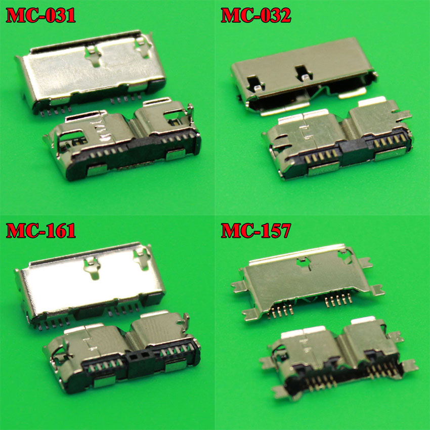 4model Micro Usb 3.0 Connector Charging Port Type B Connector For Repair Mobile / Tablet PC / MP3 / MP4 / MP5