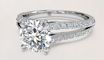 JH L&A Classic 0.29ct H/SI1 Diamond Engagement ring 18K White Gold Rose Gold Love Forever Solid Fine Jewelry