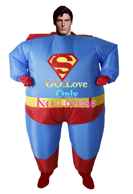 2015 New Arrive Halloween Costumes for Women Inflatable Fat Superman Party  Fancy Blow Up Dress Carnival Cosplay Superhero 9cfb237a3
