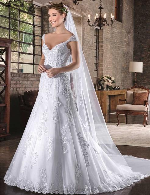 Vestido De Noiva Simple China Bridal Gowns Imported Vintage Lace Mermaid Wedding Dress Cheap Sexy Civil