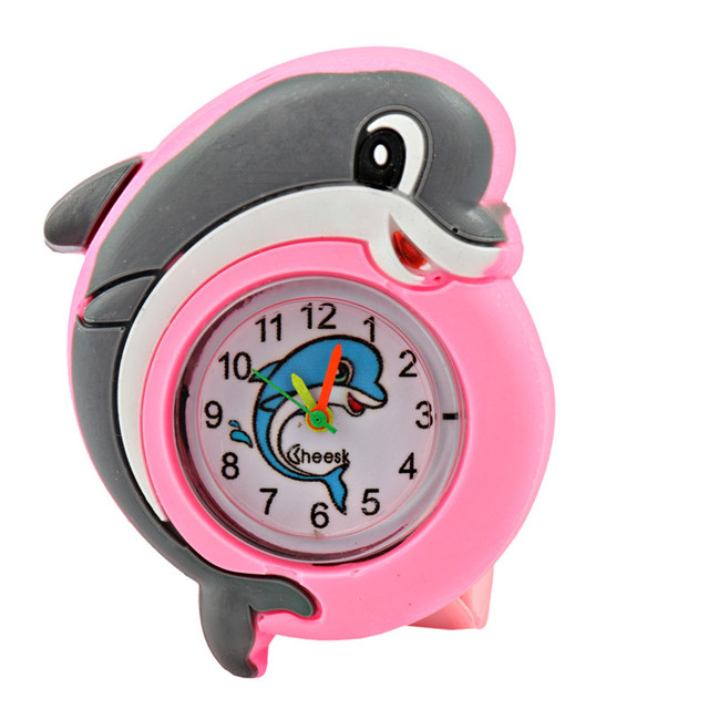New Cartoon Silicone Watches Children Animals Small Dolphin Watches Pats Circle
