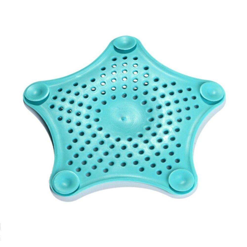 1Pc Star Plastic Bath Kitchen Waste Sink Strainer Hair Filter Drain ...