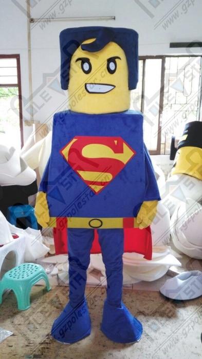 super man mascot costumes font b LEGO b font superman costumes