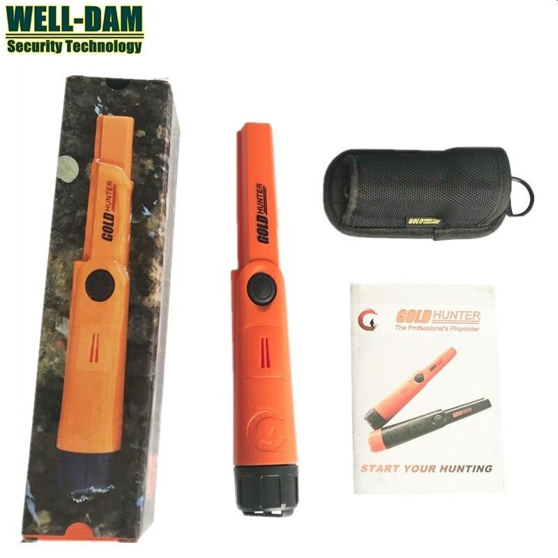 Orange Portable Gold Metal Pinpointer IP68 Handheld Waterproof Underground Metal Detector