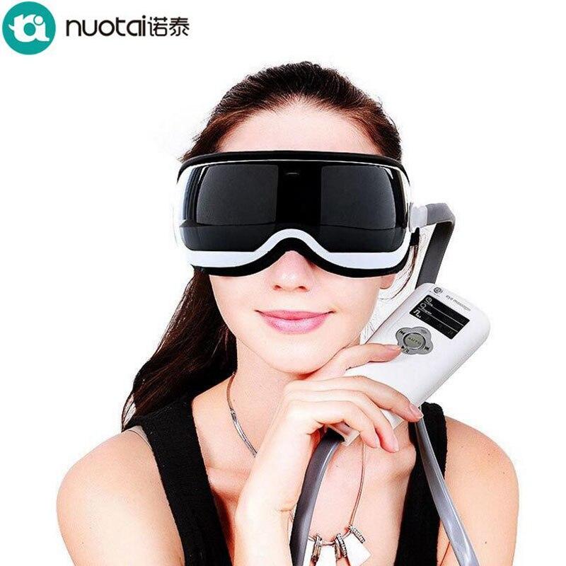 где купить NUOTAI Eyes SPA Music SPA Electric Air pressure Eye massager .Vibration Magnetic heating therapy massage device.High quality по лучшей цене