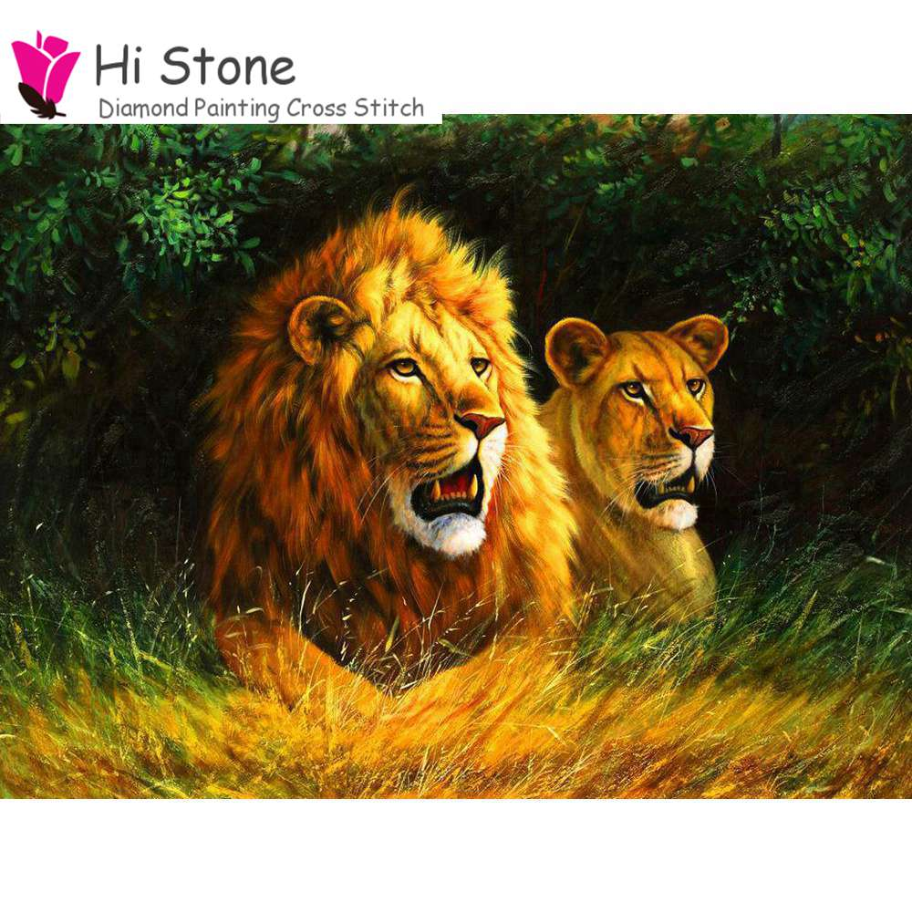 5D,Diy,Diamond Embroidery,Lions,Animales,3D,Diamond Painting,Full,square,Crystal,Resin,Home Decor
