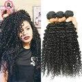 Глубокая Волна Бразильские Волосы 3B 3C Странный Вьющиеся Волосы Девственницы норки Бразильский Пучки Волос Природный Вьющиеся Ткет Роза Королева Волос продукты
