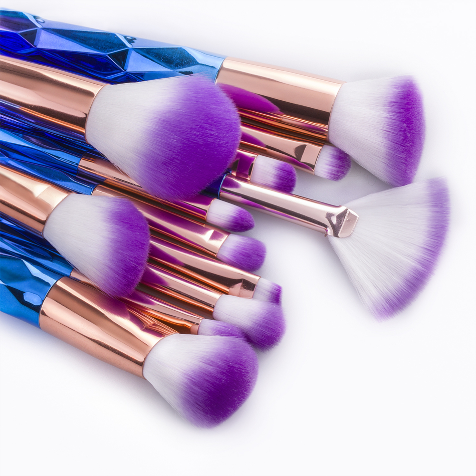 unicorn brush set. unicorn makeup brushes 12pcs thread rainbow professional make up brush set blending powder foundation eyebrow eye contour brush.-in underwear from mother o