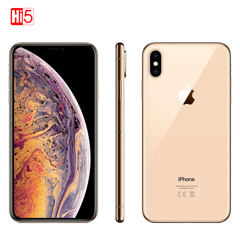 Original Apple iPhone XS Max 64gb/256gb Face ID 6.5 inch OLED Big Screen 4G Lte Apple Hexa Core Dual 12MP iOS12 Smart Phone
