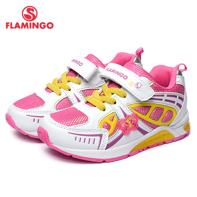 FLAMINGO 2017 New Arrival Spring & Autumn sneakers with LED for girl Fashion High Quality children shoes 71K-BK-0039