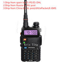 2 Pcs 2016 New BLACK BaoFeng UV 5R Walkie Talkie 136 174 400 520Mhz VHF UHF