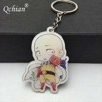 Hot Anime One Punch Man Keychian for Men Saitama Genos tatsumaki cute Key Chains Ring Holder 4