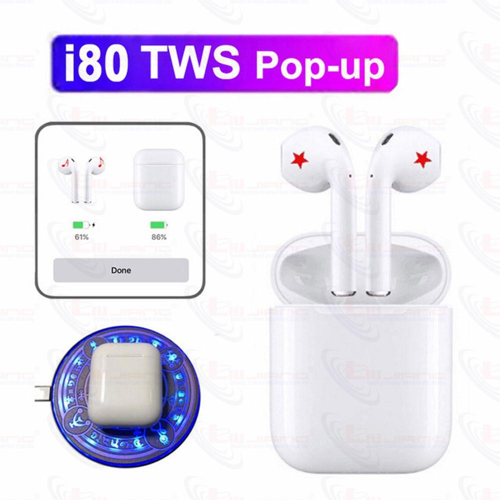I80 TWS Original sans fil Bluetooth casques d'écoute pour iPhone i80 TWS i80 PK W1 puce i20 i30 i60 i100Hifi écouteurs boîte sport