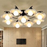 Потолочные светильники из скандинавского стекла для гостиной  для учебы  современные  американские  простые  для столовой  освещение для сп...