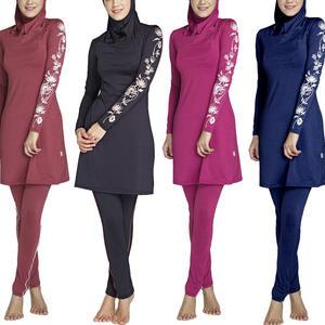 a copertura completa burkini con hijab 3 pezzi seafanny Costume da bagno da donna