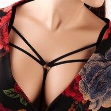New Fashion Body Girdle bondage harness Soft Top Covered  Black Elasticity Adjustment Tethered Underwear Underwear Sexy Bra