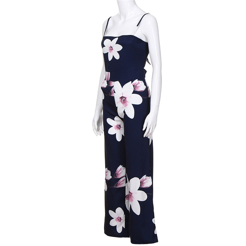 2018 Women Rompers Sexy Party Beach Jumpsuits Summer Floral Long Bodysuit Casual feminino Playsuit Whloesale #FY05 (8)