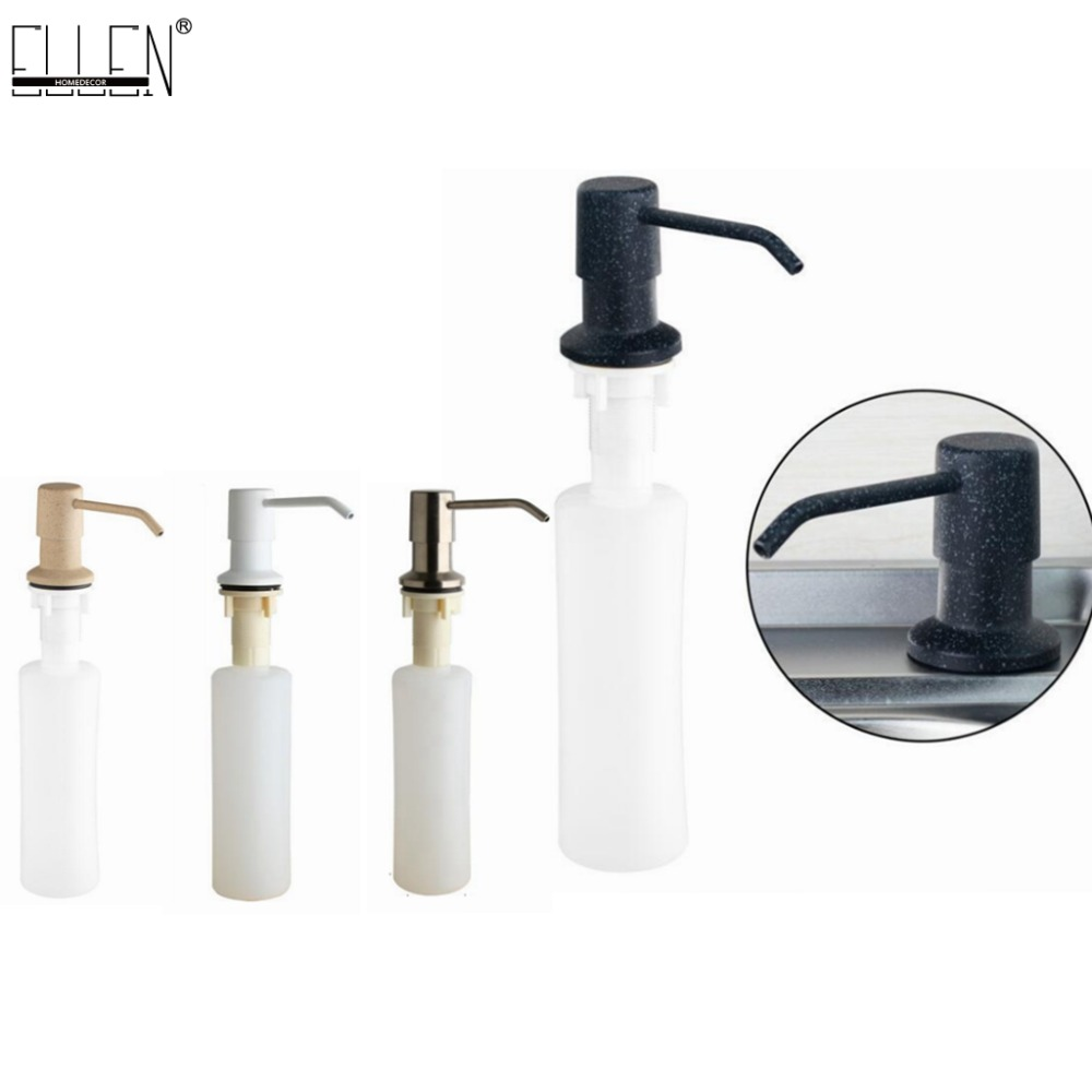 kitchen 400ml soap dispensers stainless steel pump finished for deck mounted kitchen built in. Black Bedroom Furniture Sets. Home Design Ideas