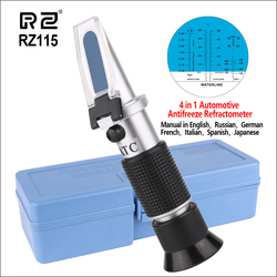 RZ Handheld Fluid Refractometer Tester Tool Car Automotive Antifreez Refractometer Freezing Point Meter Concentration Tool RZ115