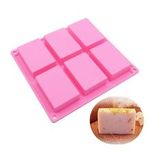 Hot Sale Rectangle Silicone Soap Molds  Tray Homemade Food Craft 3D High Quality 2019 Top