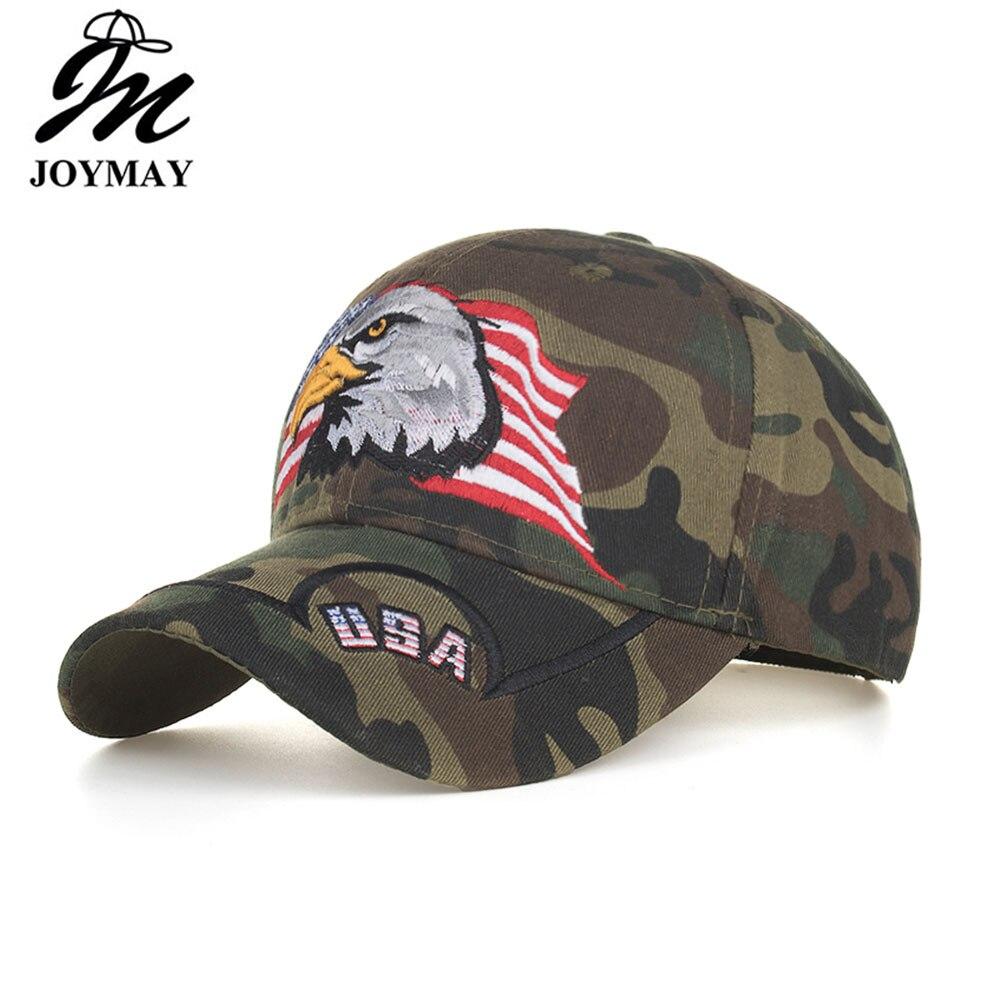 100% Wahr Joymay 2019 Neue Usa Amerikanische Flagge Haliaeetus Leucocephalus Stickerei Camouflage Baseball Kappe Sport Outdoor Hüte B628 Rabatte Verkauf