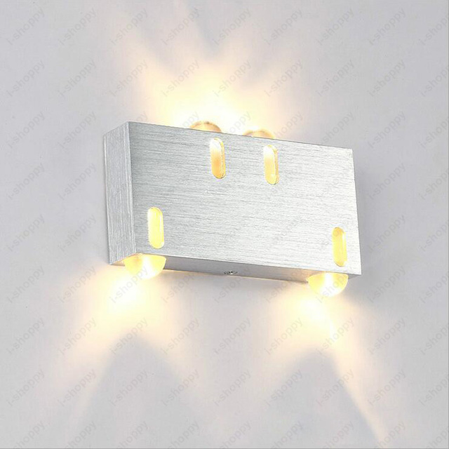 Indoor 4w Led Cob Chipset Wall Sconce Light Fixture Rectangle Up Down Lamp Cafe Hotel