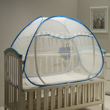 Mesh Mongolian Yurt Baby Bed Canopy Baby Bed Mosquito Net Portable Children Bed Mosquito Netting Folding Baby Crib Netting Tent(China)