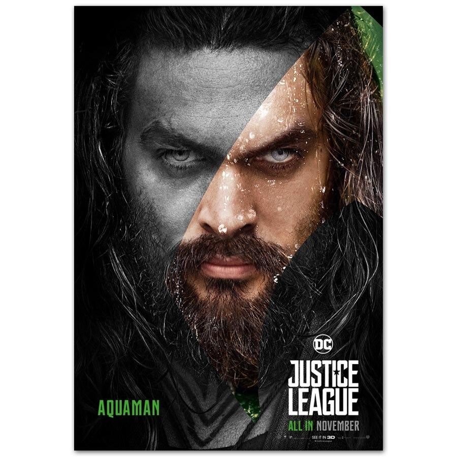 B937 New Justice League Jason Momoa Aquaman Hot DC Movie