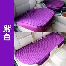 Cojín del asiento de coche de viscosa de lino 3-piezas de este conjunto de verano antideslizantes transpirable resistente al desgaste ecológico cuatro estaciones seatpad