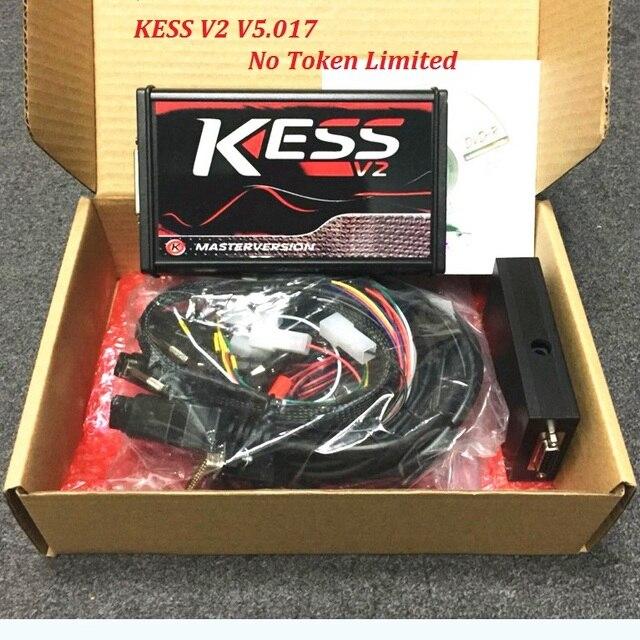 Big Sale 2018 new KESS V2 V5.017 Software V2.23 No Token Limited ECM Titaniu OBD2 Manager Tuning Kit ECU Programmer Express delivery