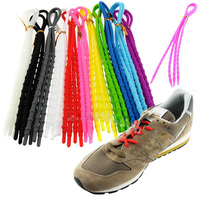 1Pair Fashion Unisex Women Men Athletic Running X-Tie Lazy Shoelaces Easy Soft Elastic Silicone Shoe Lace Strings Cable All Snea Shoelaces
