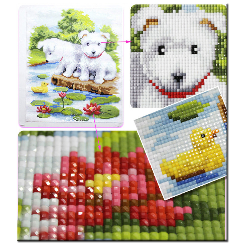 Unique Pattern Embroidery Cross Stitch Kit Diamond Painting Decoration 6435 Home Décor Clocks