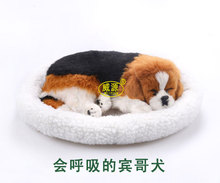 Breathing dog English Springer Spaniel Elegantes Sprin cute toy sleeping pet vivid toy Home Garden Decoration