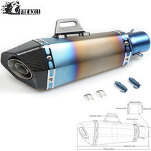 36-51MM Universal Motorcycle Exhaust Pipe muffler Dirt Bike With DB Killer For Aprilia RSV1000 RSV 4 Triumph Tiger 800/XC/XCX