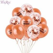 FENGRISE 15PCS 12inch Latex Gold Party Bride Weddin Balloons Golden Confetti Balloon Bachelor Hen Wedding Fecoration