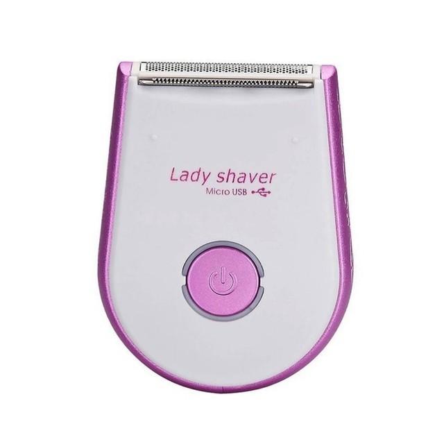 Electric lady Shaver Depilação Navalha Recarregável USB Mini Axila Depiladora para lady Bikini Pernas Corpo