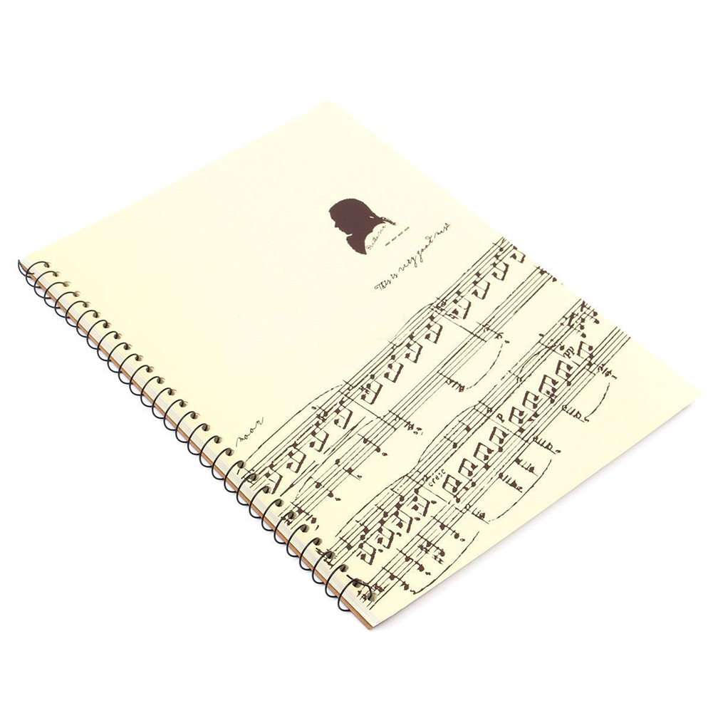 50 Pages Mozart Musical Sheet Manuscript Paper Stave Notation Notebook Spiral Bound new 50 pages mozart musical sheet manuscript paper stave notation notebook spiral bound