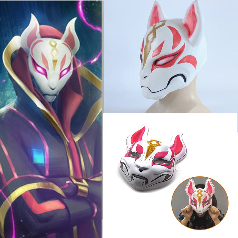 Costume Props Discreet 2018 Game Drift Cosplay Face Mask Fox Kitsune Animal Full Head Adult Unisex Masquerade Helmet Props Party Halloween Fancy Dress Novelty & Special Use