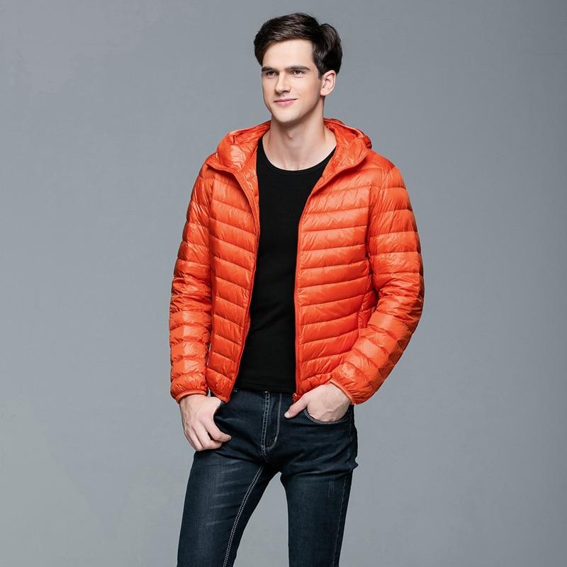 Men's Duck   Down     Coats   Men Canada Winter   Down   Jacket Youth Ultra Thin   Down   Jackets Men's Wear Puffer Jacket   Coat   Plus Size B-9599