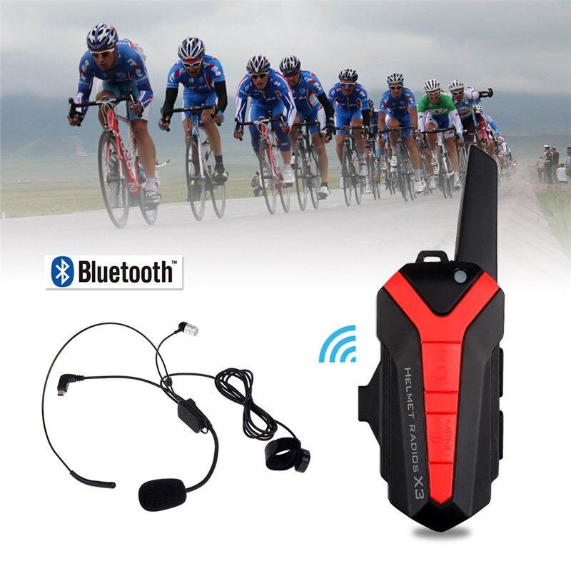 Bluetooth Bicycle bike Helmet 1.5-3KM Group Intercom Headset microphone Walkie Talkie X3 Plus universal bike bicycle motorcycle helmet mount accessories